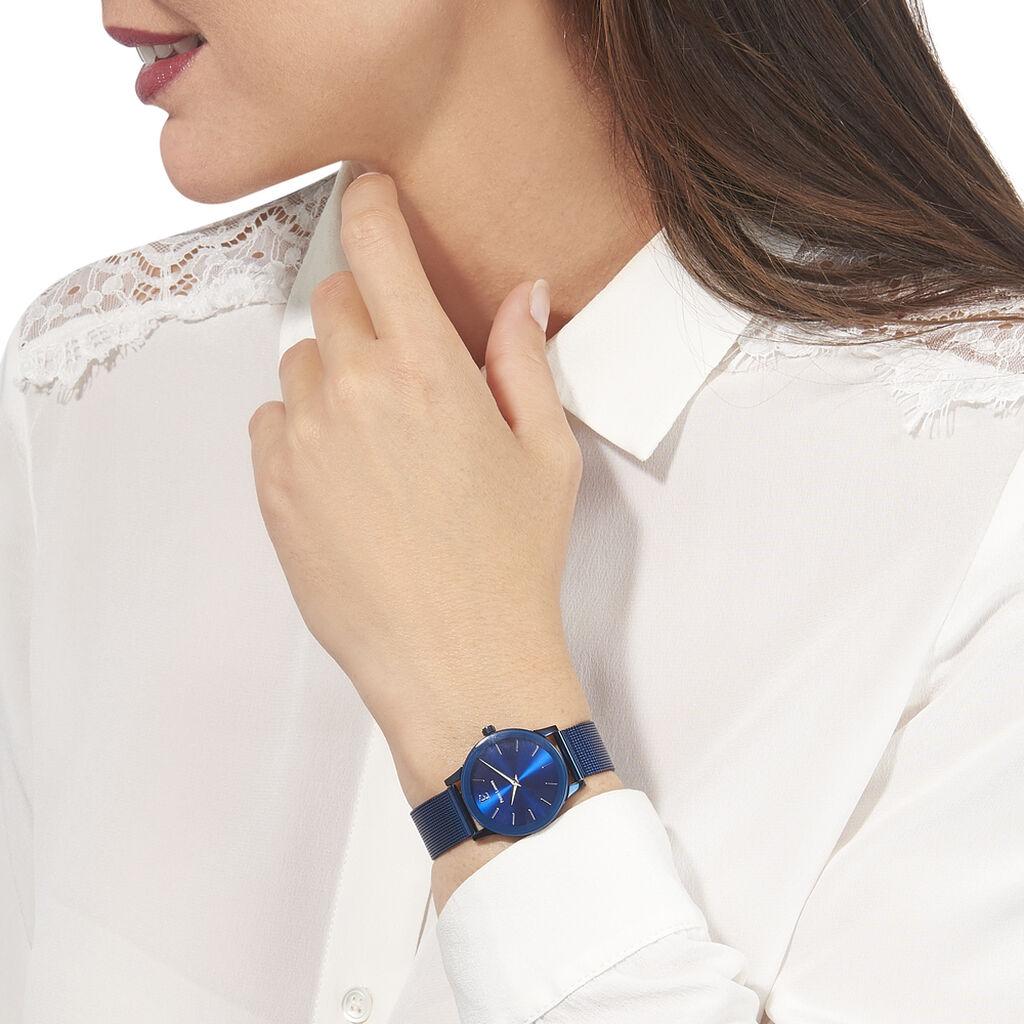 Montre Pierre Lannier Week End Ligne Pure Bleu - Montres tendances Femme | Histoire d'Or
