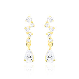 Boucles D'oreilles Or Jaune Oxyde  - Boucles d'oreilles pendantes Femme | Histoire d'Or