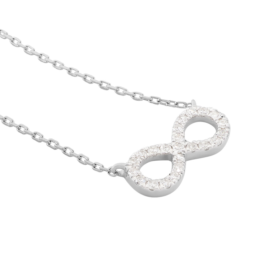 Collier Infini Empierre Or Blanc Diamant - Colliers Infini Femme | Histoire d'Or