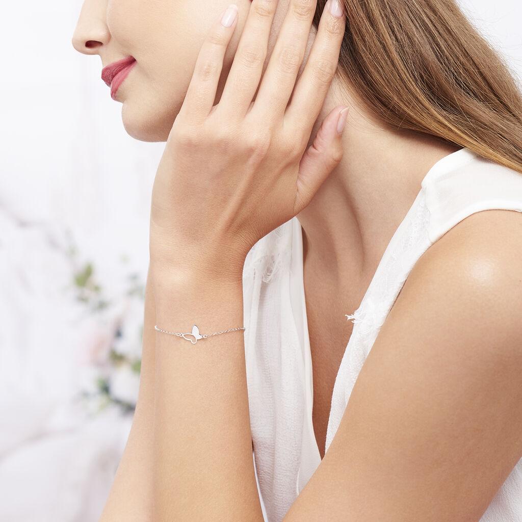 Bracelet Maria Argent Blanc - Bracelets Papillon Femme   Histoire d'Or