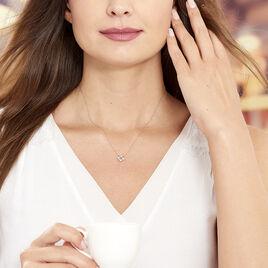 Collier Gladysse Or Rose Oxyde De Zirconium - Bijoux Femme | Histoire d'Or
