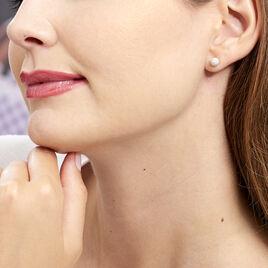 Boucles D'oreilles Argent Rhodie Puce Boule - Boucles d'oreilles fantaisie Femme | Histoire d'Or
