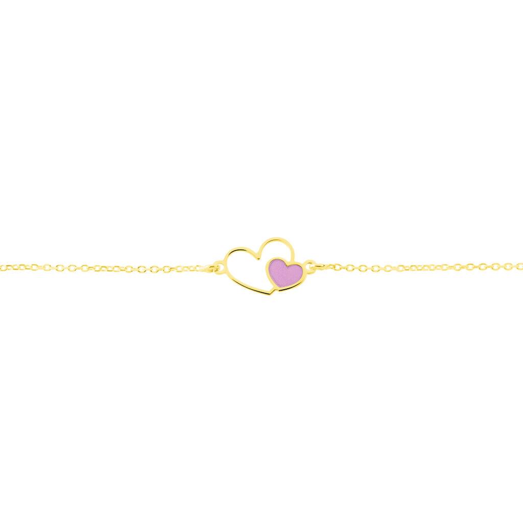 Bracelet Or Jaune Mai Lan Smalto - Bracelets Coeur Enfant | Histoire d'Or