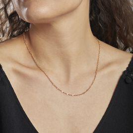 Collier Plaque Or Lilac Chaine Fantaisie - Colliers fantaisie Femme | Histoire d'Or