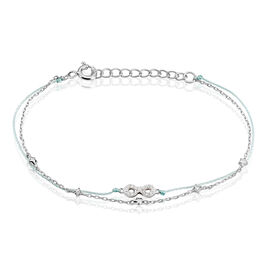 Bracelet Argent Rhodie Vera Infini Oxyde - Bracelets Infini Femme   Histoire d'Or