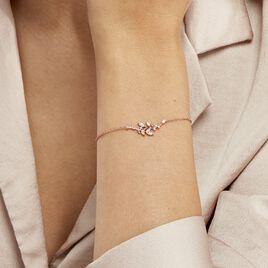 Bracelet Wendy Argent Rose Oxyde De Zirconium - Bracelets Plume Femme | Histoire d'Or