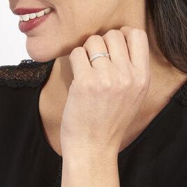 Bague Timira Or Blanc Diamant - Bagues avec pierre Femme   Histoire d'Or