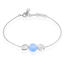 Bracelet Amandine Argent Blanc Pierre De Synthese - Bracelets fantaisie Femme | Histoire d'Or