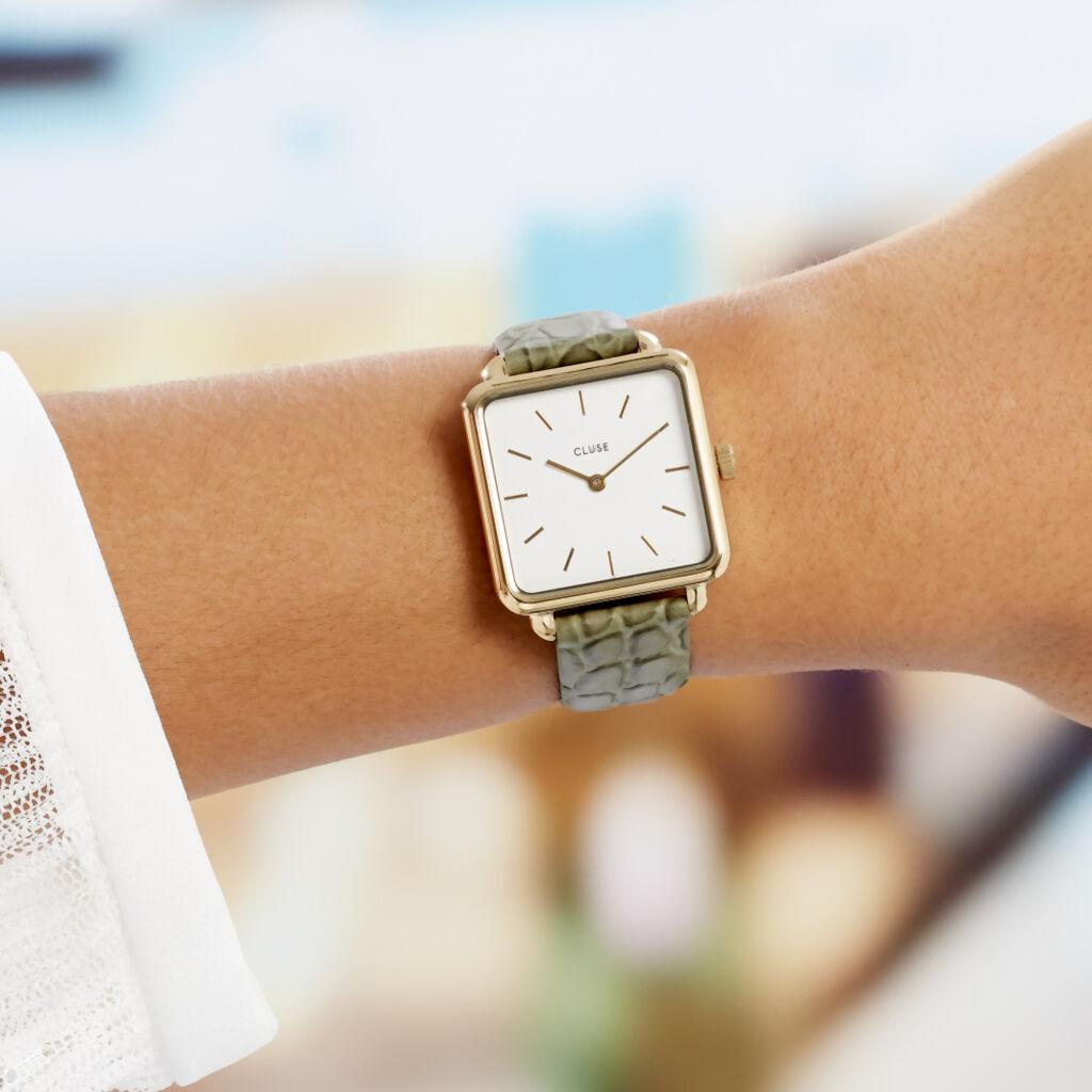 Montre Cluse La Tetragone Blanc - Montres Femme   Histoire d'Or