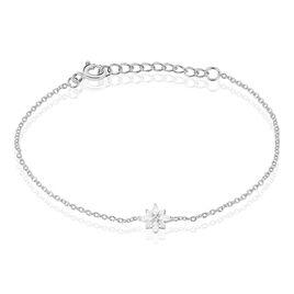 Bracelet Eclat Argent Blanc Oxyde De Zirconium - Bijoux Etoile Femme | Histoire d'Or