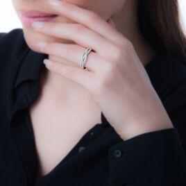 Bague Joelly Argent Blanc Oxyde De Zirconium - Bagues avec pierre Femme   Histoire d'Or