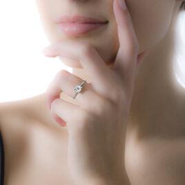 Bague Adeline Or Blanc Diamant - Bagues avec pierre Femme   Histoire d'Or