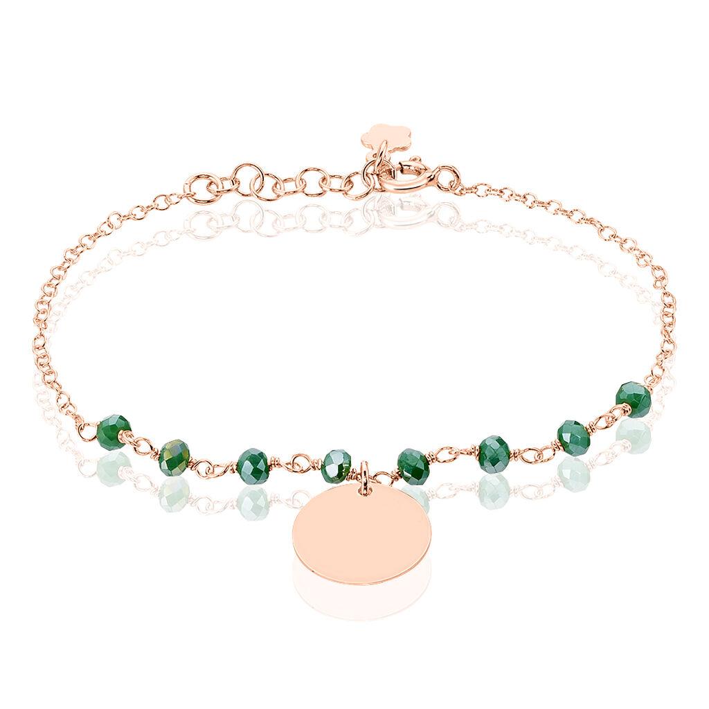 Bracelet Skurta Argent Rose Pierre De Synthese - Bracelets fantaisie Femme   Histoire d'Or