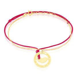 Bracelet Angelina Message Or Jaune - Bracelets Coeur Femme   Histoire d'Or