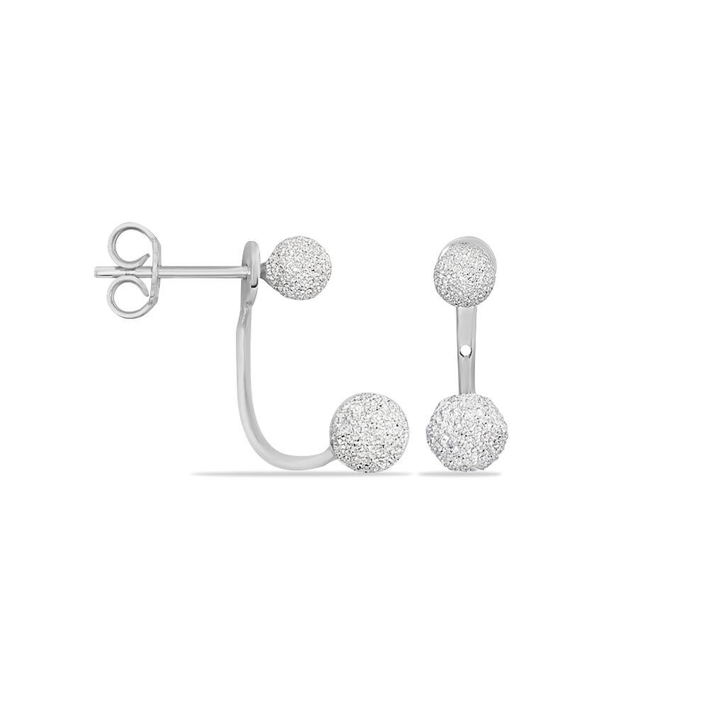 Bijoux D'oreilles Rosely Argent Blanc - Boucles d'oreilles fantaisie Femme   Histoire d'Or