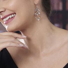 Boucles D'oreilles Pendantes Lisi Argent Blanc - Boucles d'oreilles fantaisie Femme | Histoire d'Or