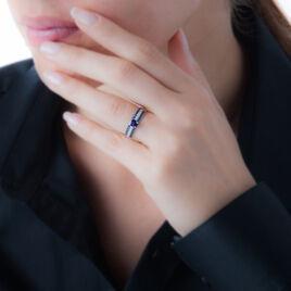 Bague Lexina Or Blanc Saphir Diamant - Bagues avec pierre Femme | Histoire d'Or
