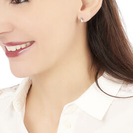 Boucles D'oreilles Puces Fidelia Or Jaune Diamant - Clous d'oreilles Femme | Histoire d'Or