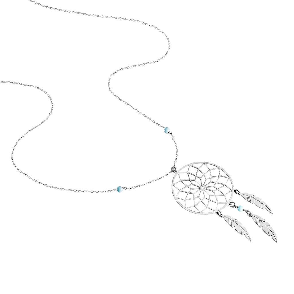 Collier Sautoir Misalie Argent Blanc - Colliers fantaisie Femme | Histoire d'Or