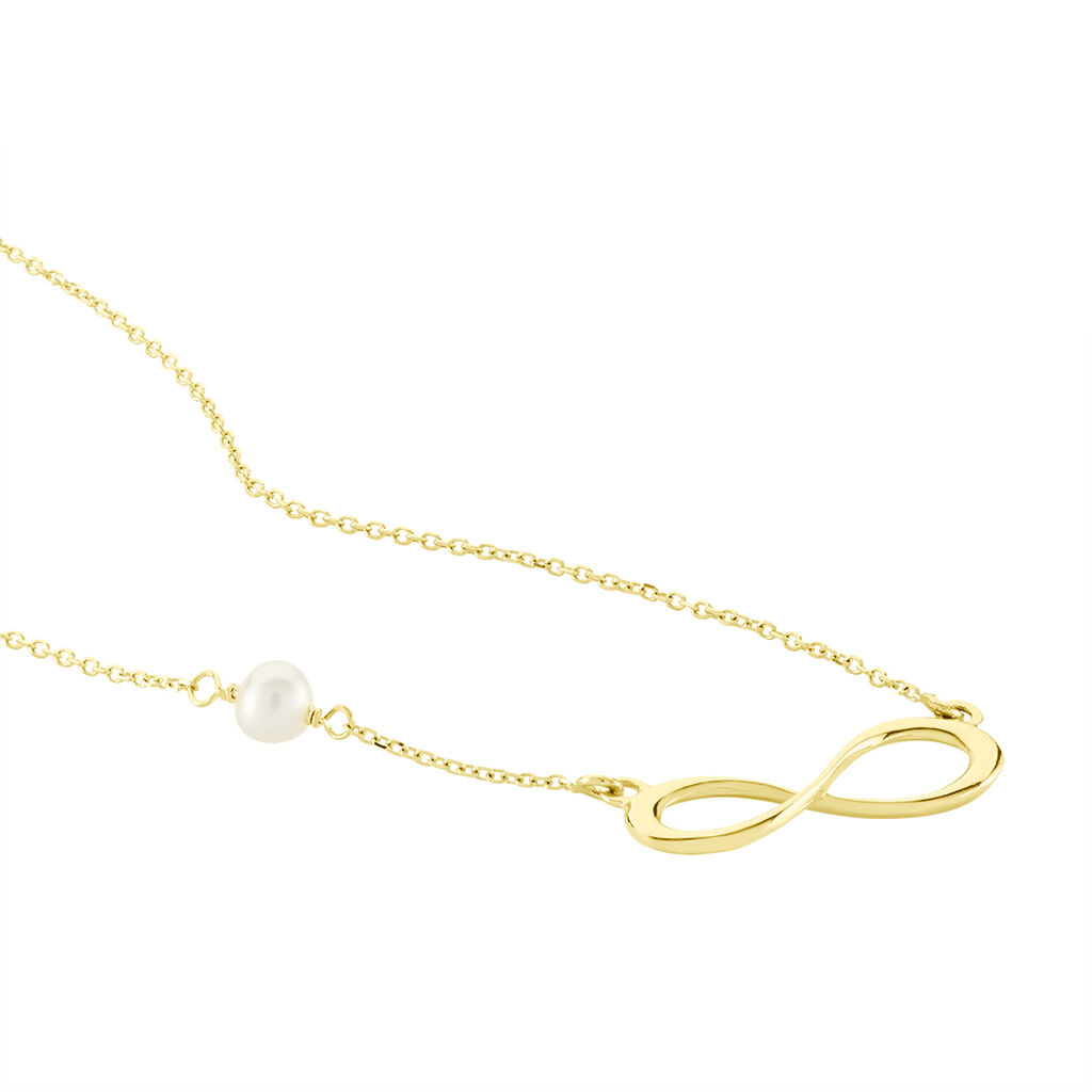 Collier Illenia Or Jaune Perle De Culture - Colliers Infini Femme | Histoire d'Or