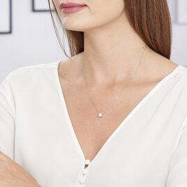 Collier Kariane Argent Blanc Oxyde De Zirconium - Colliers fantaisie Femme   Histoire d'Or