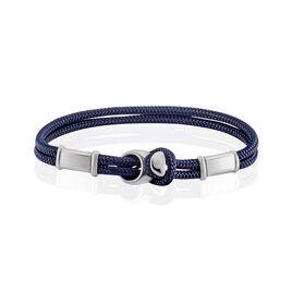 Bracelet Sylvain Acier Blanc - Bracelets cordon Homme | Histoire d'Or