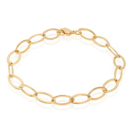 Bracelet Madya Maille Ovale Plaque Or Jaune - Bracelets fantaisie Femme | Histoire d'Or