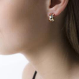 Créoles Igora Or Tricolore - Boucles d'oreilles créoles Femme   Histoire d'Or