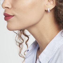 Créoles Hallinskidi Argent Rhodié Oxyde De Zirconium - Boucles d'oreilles créoles Femme | Histoire d'Or