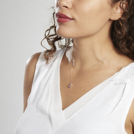 Collier Or Blanc Yrene Améthyste - Bijoux Femme | Histoire d'Or