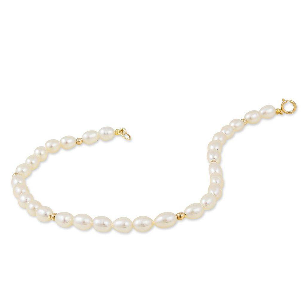 Bracelet Ciriola Or Jaune Perle De Culture - Bijoux Femme | Histoire d'Or