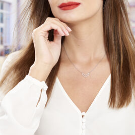 Collier Nouhayla Argent Blanc - Colliers fantaisie Femme | Histoire d'Or