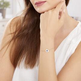 Bracelet Cartina Plaque Or Jaune Pierre De Synthese - Bracelets fantaisie Femme | Histoire d'Or