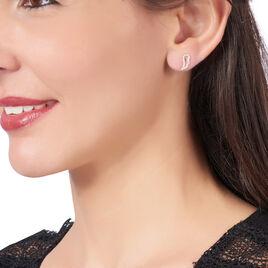 Boucles D'oreilles Puces Angela Or Jaune Oxyde De Zirconium - Clous d'oreilles Femme | Histoire d'Or