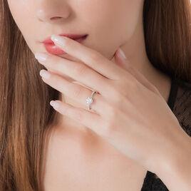 Bague Solitaire Or Blanc Oxyde De Zirconium - Bagues solitaires Femme | Histoire d'Or