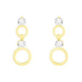 Boucles D'oreilles Pendantes Wynona Or Jaune Oxyde De Zirconium - Boucles d'oreilles pendantes Femme | Histoire d'Or