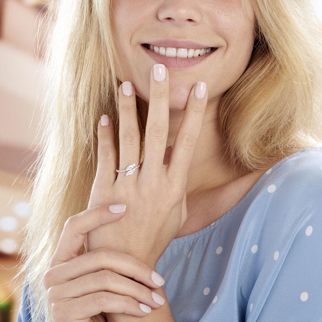 Bague Nevarte Argent Blanc Oxyde De Zirconium - Bagues avec pierre Femme | Histoire d'Or