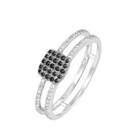 Bague Aude Or Blanc Diamant - Bagues avec pierre Femme   Histoire d'Or