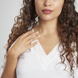 Collier Or Jaune Nahia Oxydes De Zirconium - Colliers Plume Femme   Histoire d'Or