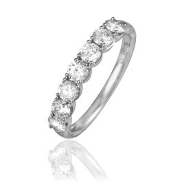 Alliance Eloise Platine Blanc Diamant - Alliances Femme | Histoire d'Or