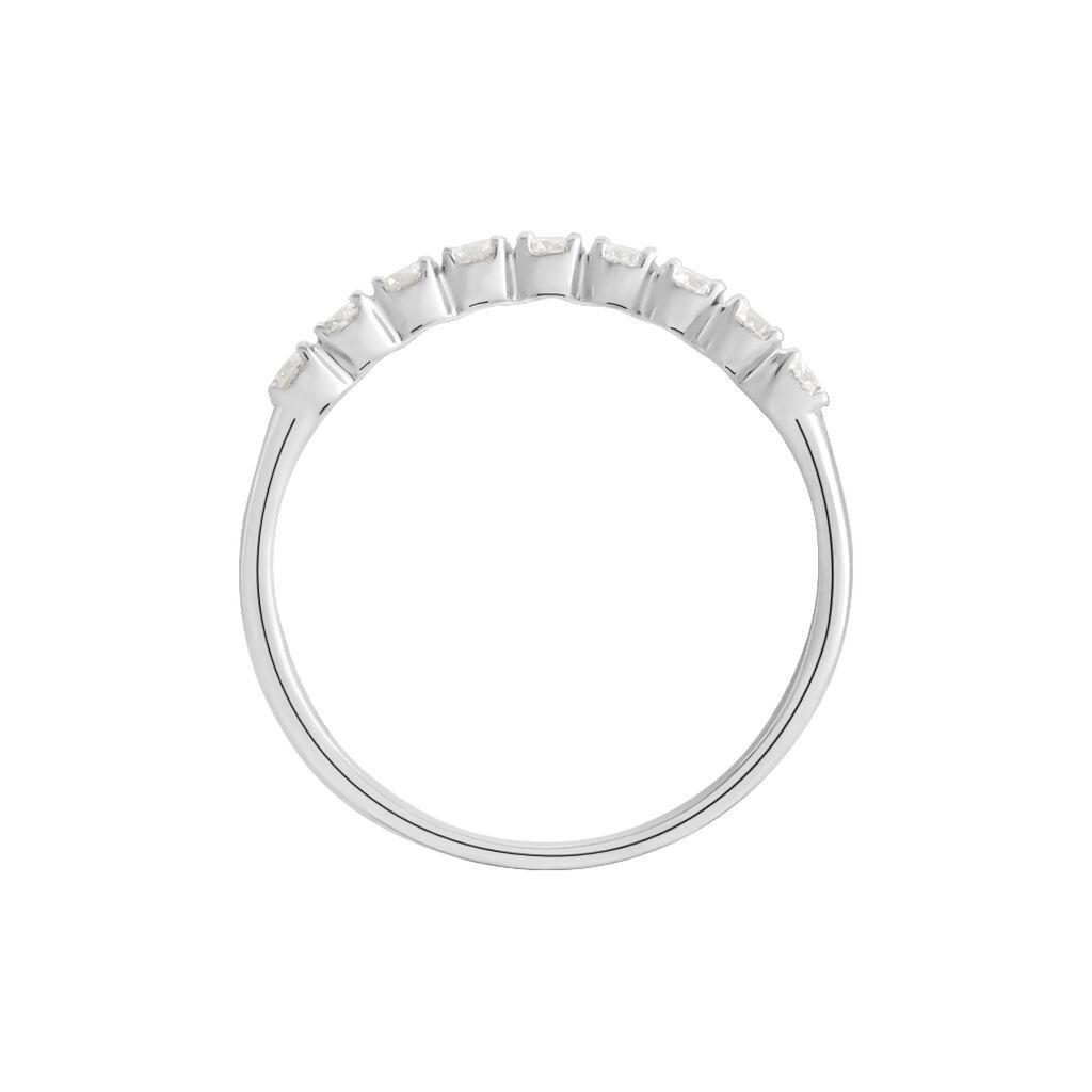 Demi Alliance Eloise Platine Blanc Diamant - Alliances Femme | Histoire d'Or