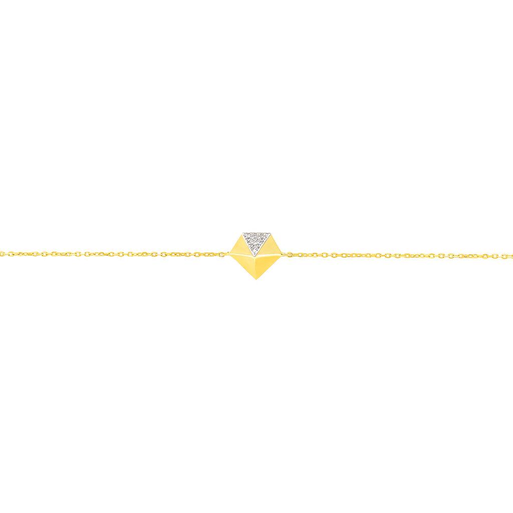 Bracelet Thida Or Jaune Diamant - Bijoux Femme | Histoire d'Or
