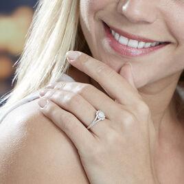Bague Angelon Or Blanc Diamant - Bagues avec pierre Femme | Histoire d'Or
