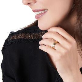 Bague Edena Plaque Or Jaune - Bagues fantaisie Femme | Histoire d'Or