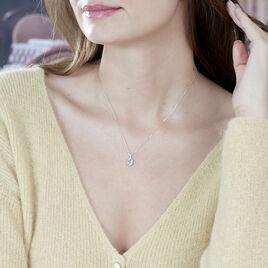 Bague Cindy Or Blanc Topaze Et Oxyde De Zirconium - Bijoux Femme | Histoire d'Or