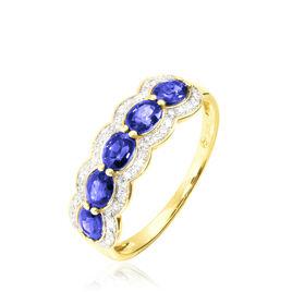 Bague Margaux Or Jaune Tanzanite Et Diamant - Bagues avec pierre Femme | Histoire d'Or