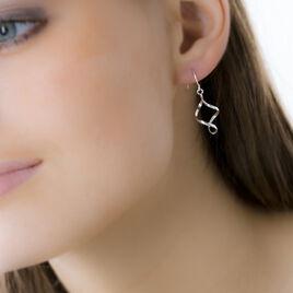 Boucles D'oreilles Pendantes Julitteae Argent Blanc - Boucles d'oreilles fantaisie Femme | Histoire d'Or