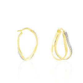 Créoles Ianis Vrillees Or Bicolore - Boucles d'oreilles créoles Femme   Histoire d'Or