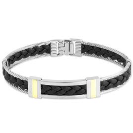 Bracelet Aichatou Or Acier Blanc - Bijoux Homme   Histoire d'Or