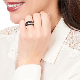Bague Rosa-marie Or Blanc Oxyde De Zirconium Et Céramique - Bagues avec pierre Femme | Histoire d'Or